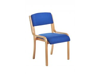 Prague Wood Frame Conference Chair with Optional Arms & Colours - PRA50001