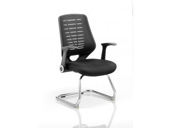Dynamic Relay Leather Seat Cantilever Chair