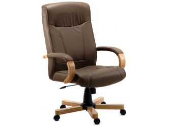 Brown Leather Faced Executive Chair RICHMOND