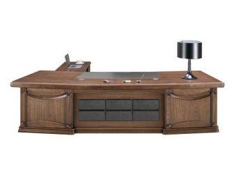 Substantial Large Executive Desk in Walnut Veneer Stylish Design EDE-DSK-K2K323-2000/3200/3600mm