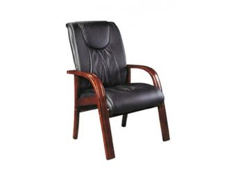 Real Leather Executive Visitor Chair GRA-CHA-C375