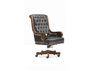 Black Leather Executive Office Chair GRA-F97A-1