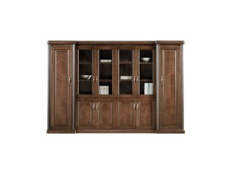 Executive Bookcase Wood & Glass Doors HER-BKC-KM3Y06