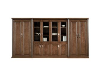 Luxury Executive Bookcase Tall & Wide HER-BKC-KM3Y08