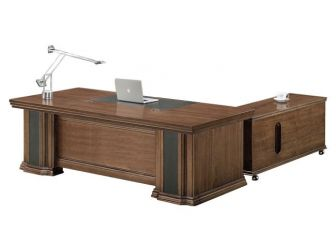 Executive Desk With Pu Leather Detailing HER-DSK-K1N241