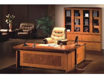 Executive Desk In 2 Tone Yew Finish HSN-1860-1800 / 2000mm