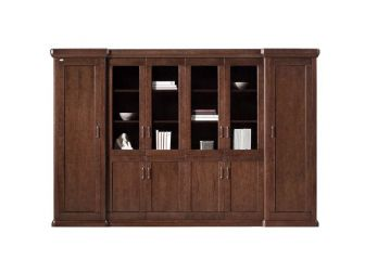 Large Executive Bookcase With 6 Doors NAX-BKC-UM3D06