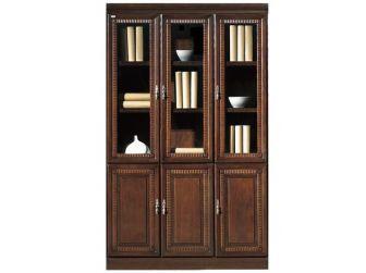 Executive Bookcase With 3 Glass Doors RIZ-BKC-UMZ103