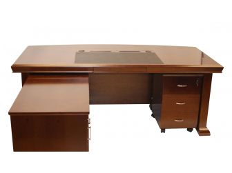 2m Wide Walnut Executive Desk Curved Top ZHO-DSK-BH2021