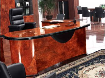 Heavy Duty Executive Desk Curvy Design SCA-6849