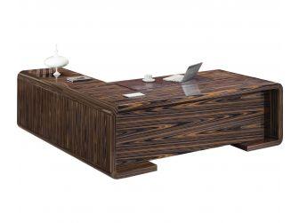Unique Real Wood Veneer  Designer Executive Office Desk DES-0980-2400MM