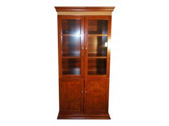 Medium Oak Luxury Bookcase 2 Doors Wide DES-1861A-2DR