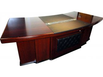 Large Executive Desk With Leather Detail DES-3211