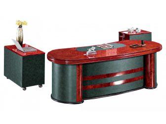 Curvy Executive Office Desk High Lacquer DES-6836