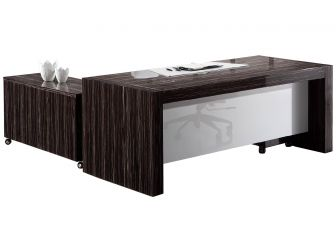 Contemporary high gloss veneer  Executive Office Desk DES-6852-2000mm