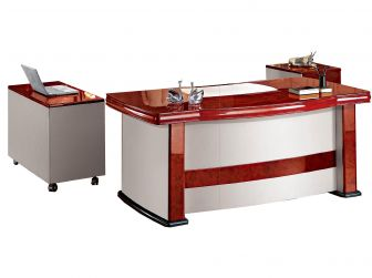 Executive Desk With Faux Leather VER-16839 2000mm