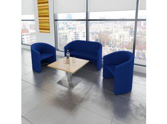 Slender Fabric Sofa - Black or Blue - 1 & 2 Seater Available