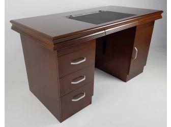 Executive Home Office Desk In Walnut GRA-UBA161-1600mm