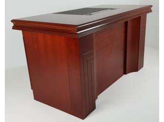 GRA-UBA141-1400mm - Executive Home Office Desk In Mahogany Veneer