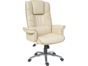 Cream Leather Faced Executive Armchair - WINDSOR