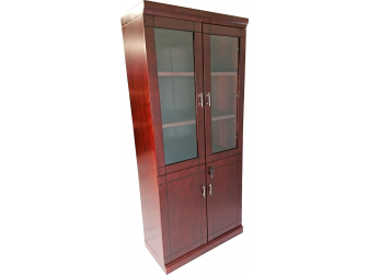 Executive Office Storage Bookcase BKC-WO2-Mahogany