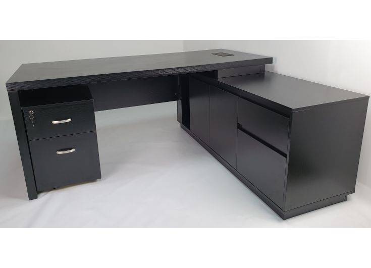 Quality Executive Office Corner Desk In, Corner Desk Black