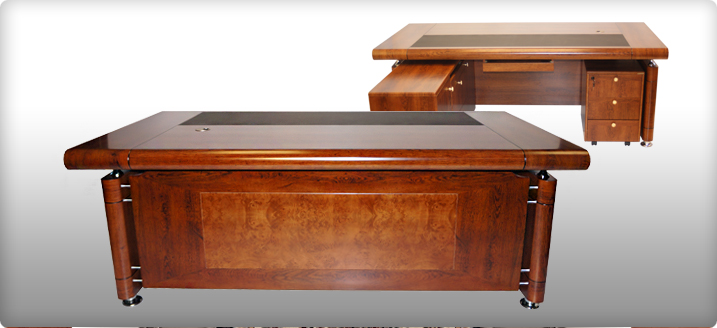 Stunning Medium Oak Roll Top Executive Desk - 1861