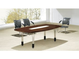 2.4m Mahogany Meeting Table Steel legs MET-UTO324