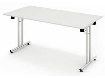 Impulse Cantilever Leg Folding Rectangular Table In a Range of Wood Finishes
