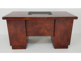 Executive Home Office Desk in Walnut Lacquer - 1408