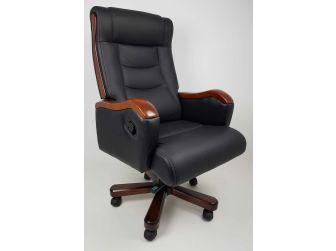 Luxury Black Leather Executive Office Chair CHA-1832AB