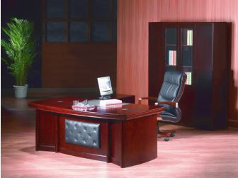 Quality 2.0m Wide Executive Office Desk With Leather Panelling  DES-1833