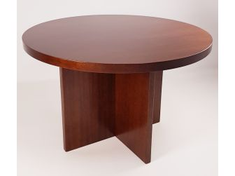 Executive Round Meeting Room Table Walnut DES-MET-1861-R-WNT