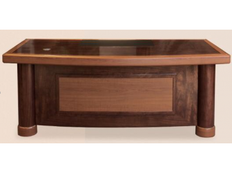 Executive Desk In 2 Tone Mahogany & Walnut Finish HSN-1862 - 1.8m 2m Wide Options