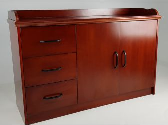 Cherry Real Wood Veneer Cupboard - 2K01-CHERRY