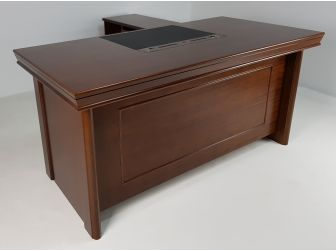 1.6m Light Walnut Real Wood Veneer Executive Office Desk DES-1830-WNT