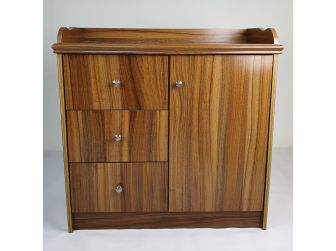 Small Light Oak Executive Office Cupboard - 2K01