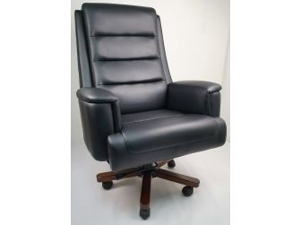 Black Leather Executive Office Chair - 1840A