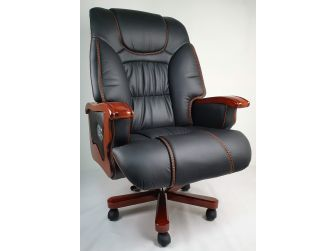 Luxury Large Black Leather Executive Office - A00L