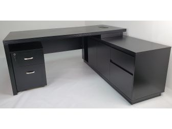 Quality Executive Office Corner Desk in Black Ash BG856