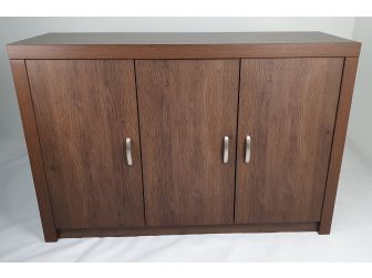 Quality Executive 3 Door Office Cupboard Credenza in Walnut BG-892