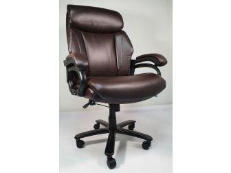 Heavy Duty Brown Leather Executive Office Chair - CS2181E