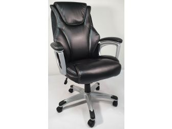 Black Leather Executive High Back Office Chair - CS-2208E