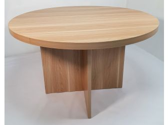 Quality Light Oak Round Meeting Table - HSN009-MET