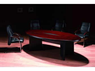 Oval Mahogany Meeting Table Boardroom Table