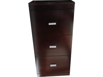 3 Drawer Filing Cabinet in Dark Walnut