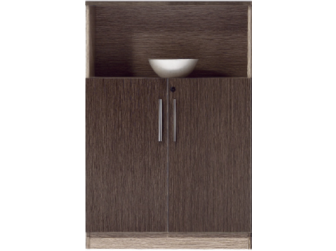 Large Executive Office Cupboard Chocolate and Light Oak JS-WRC02