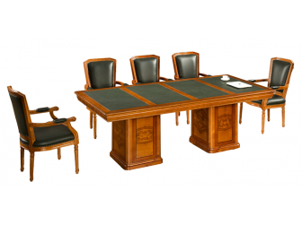Medium Oak Meeting Table or Boardroom Table
