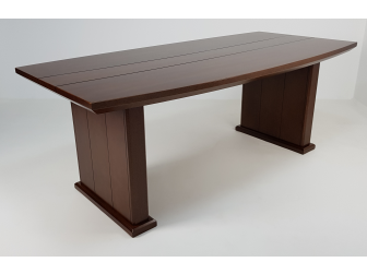 Real Wood Veneer Executive Boardroom Table in Light Walnut - MET-517