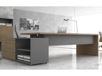 Light Walnut with Grey Executive Office Desk - DES-B06U